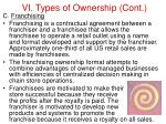 vi types of ownership cont44