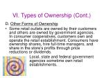 vi types of ownership cont45