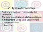 vi types of ownership