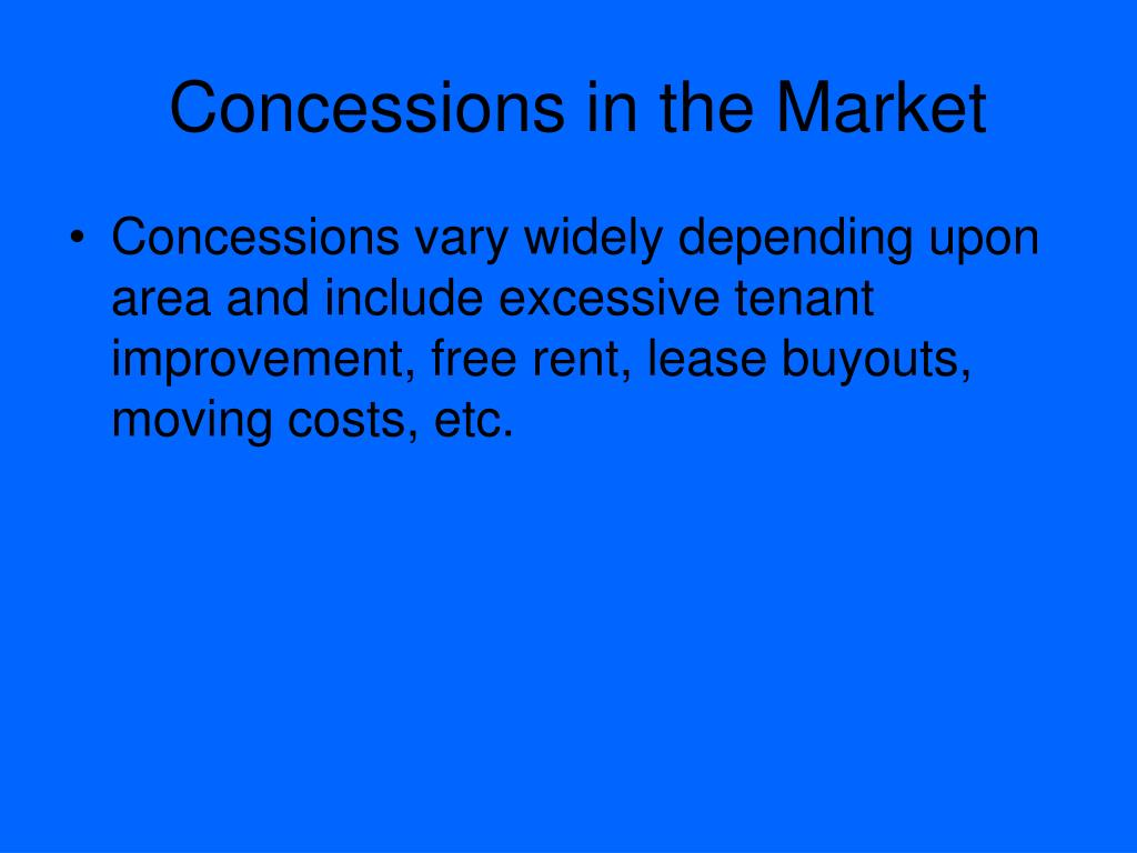 Concessions in the Market