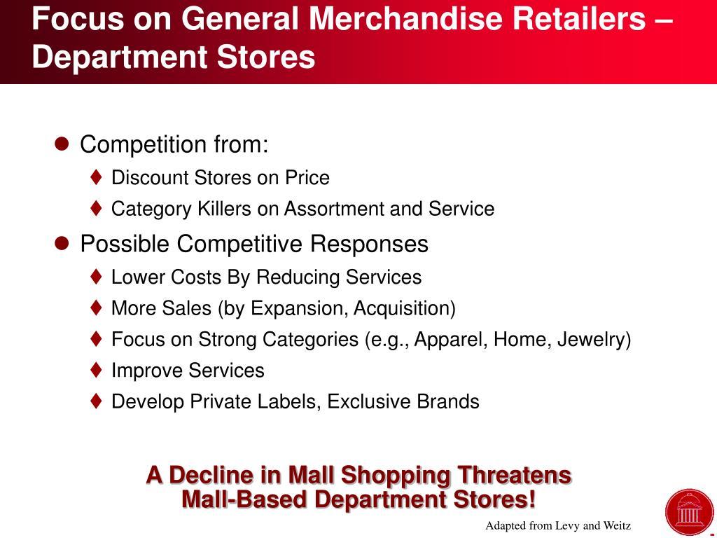 Focus on General Merchandise Retailers – Department Stores