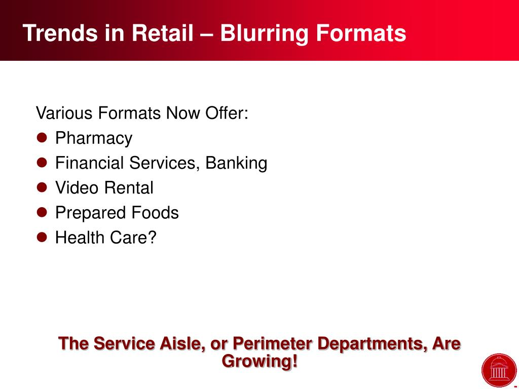 Trends in Retail – Blurring Formats