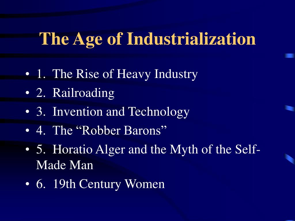 the age of industrialization l.