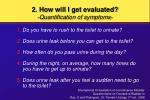 2 how will i get evaluated quantification of symptoms53