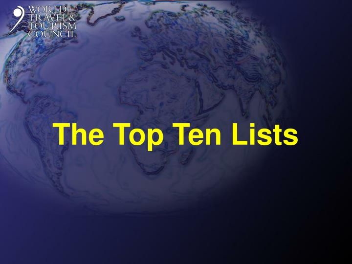 The Top Ten Lists