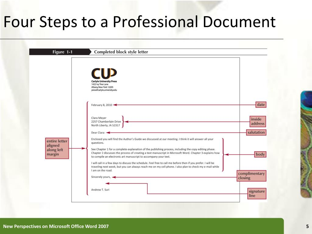Four Steps to a Professional Document