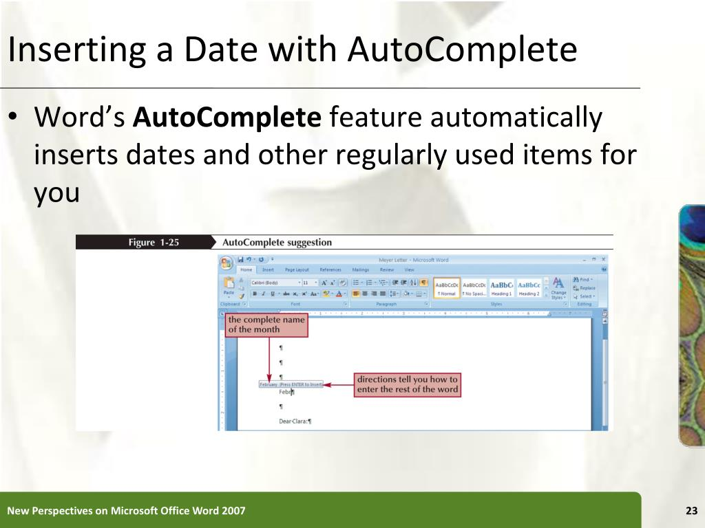 Inserting a Date with AutoComplete