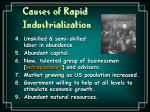 causes of rapid industrialization17
