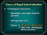 causes of rapid industrialization4