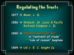 regulating the trusts