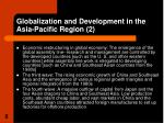 globalization and development in the asia pacific region 2