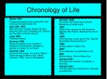 chronology of life
