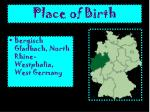 place of birth