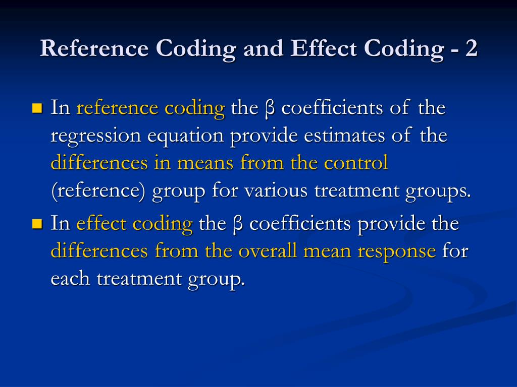 Reference Coding and Effect Coding - 2