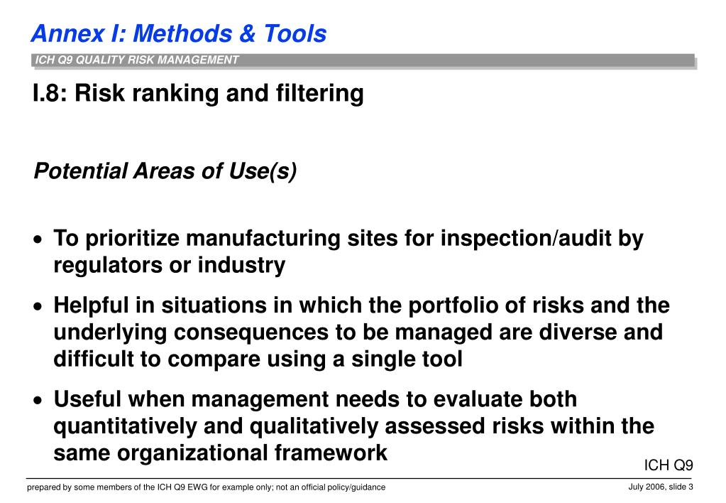 I.8: Risk ranking and filtering