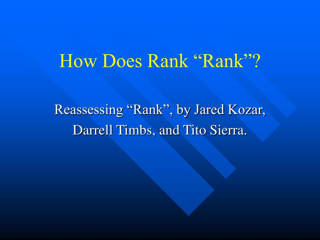 how does rank rank l.