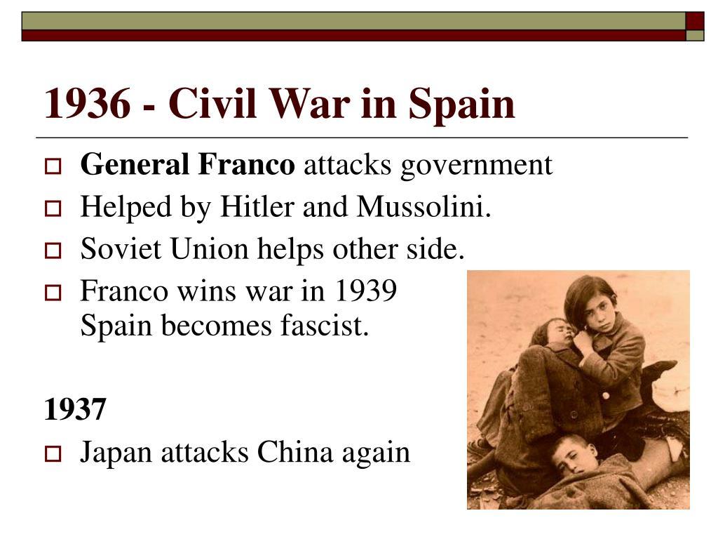 1936 - Civil War in Spain