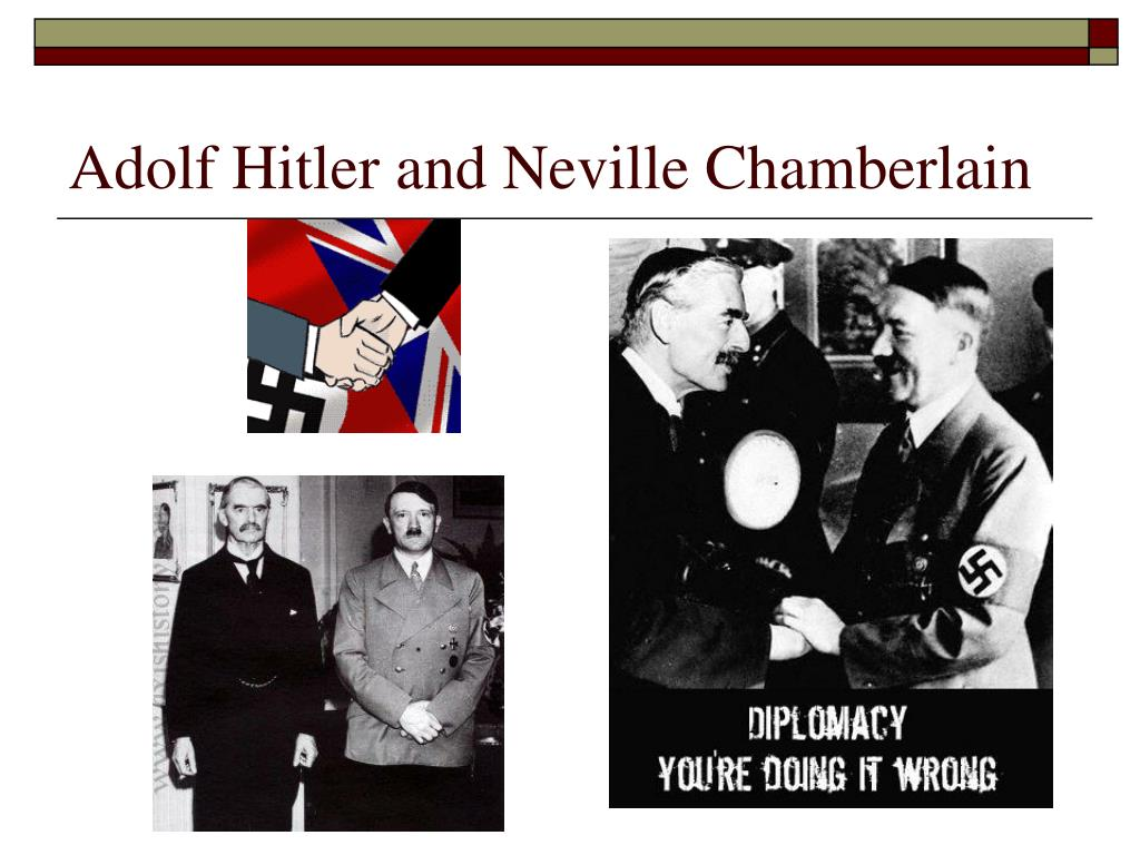 Adolf Hitler and Neville Chamberlain