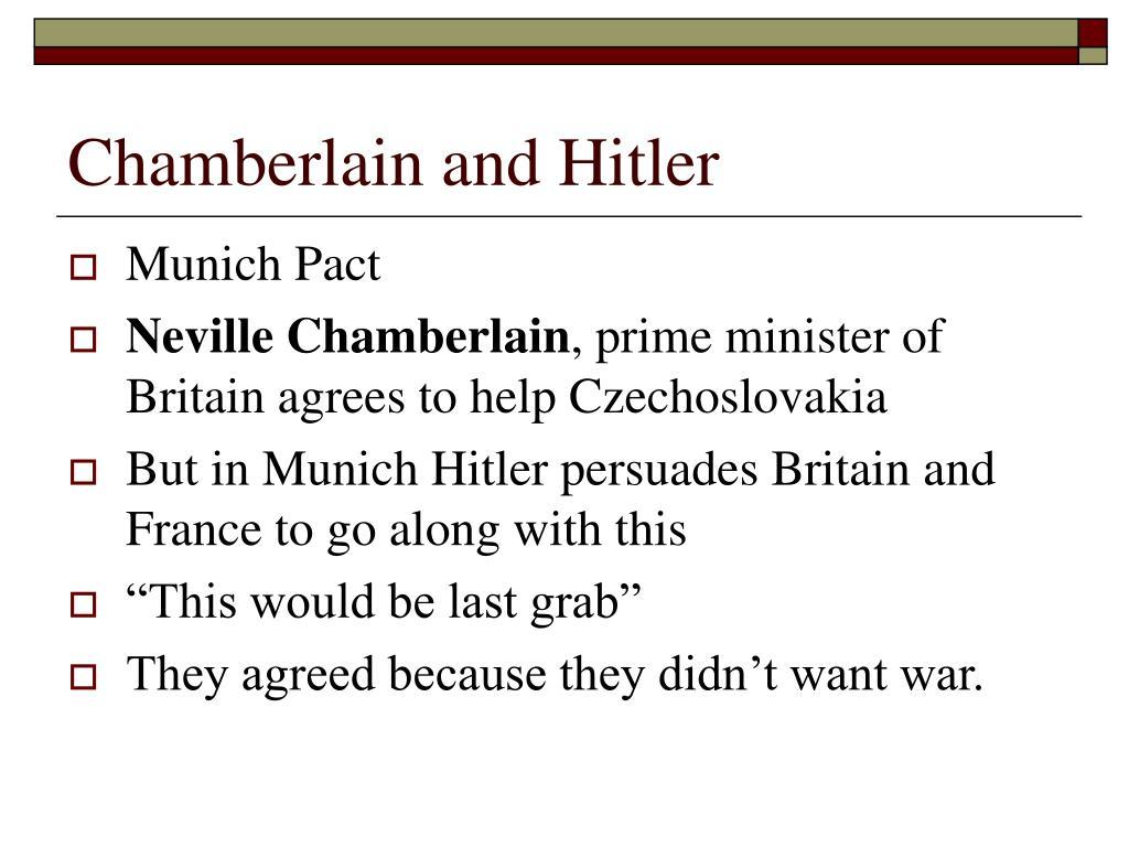 Chamberlain and Hitler