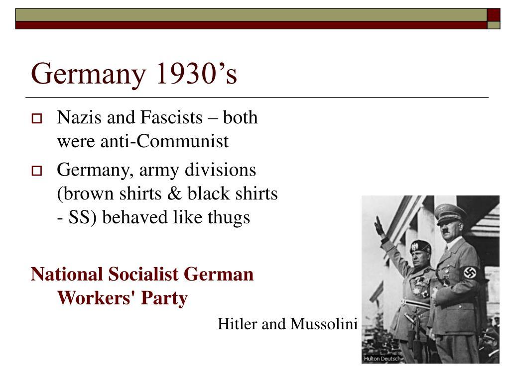 Germany 1930's