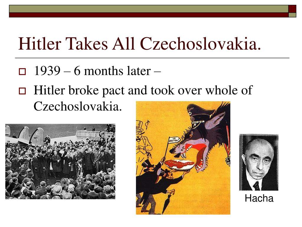 Hitler Takes All Czechoslovakia.