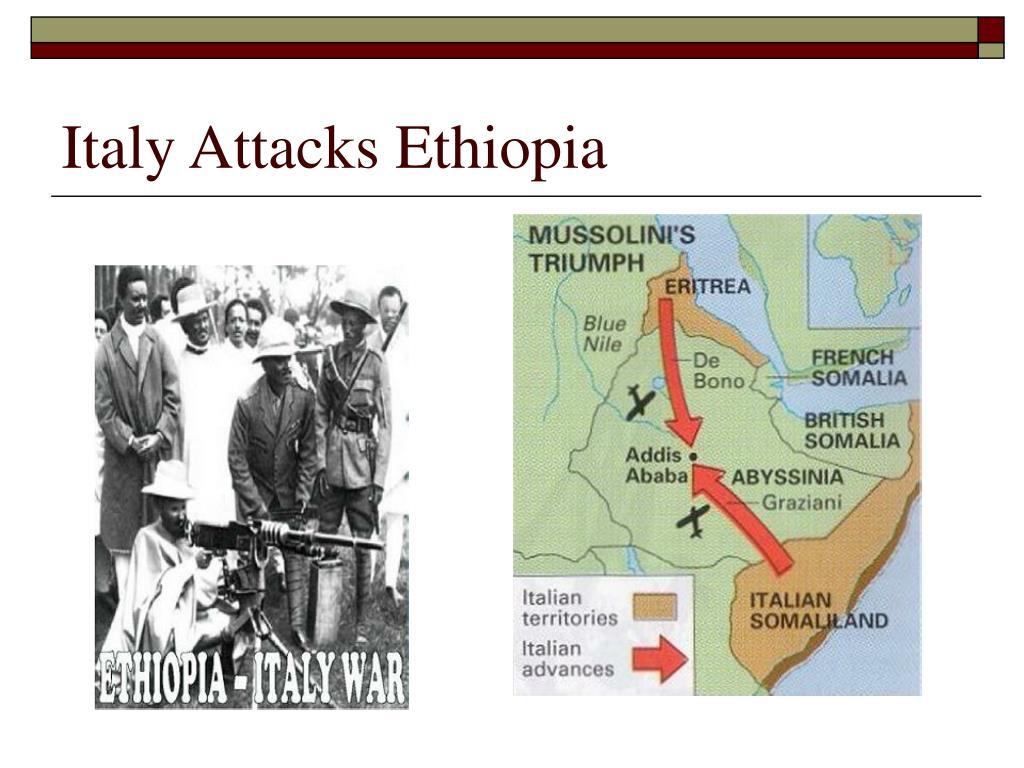 Italy Attacks Ethiopia