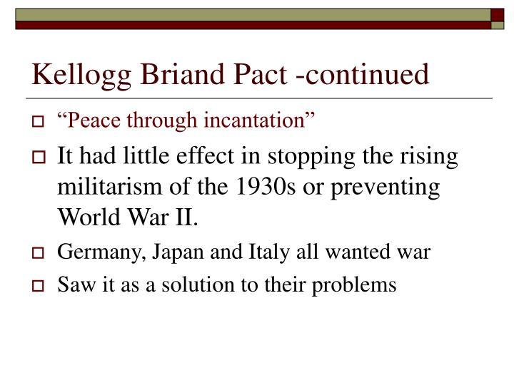 Kellogg briand pact continued