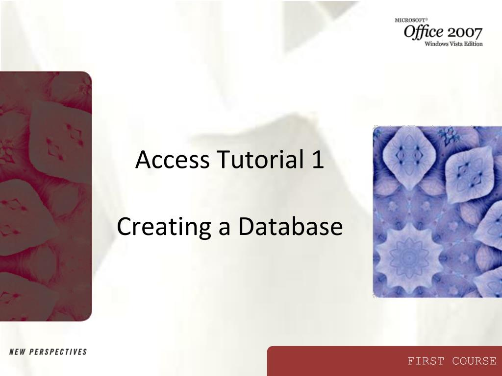 Access Tutorial 1