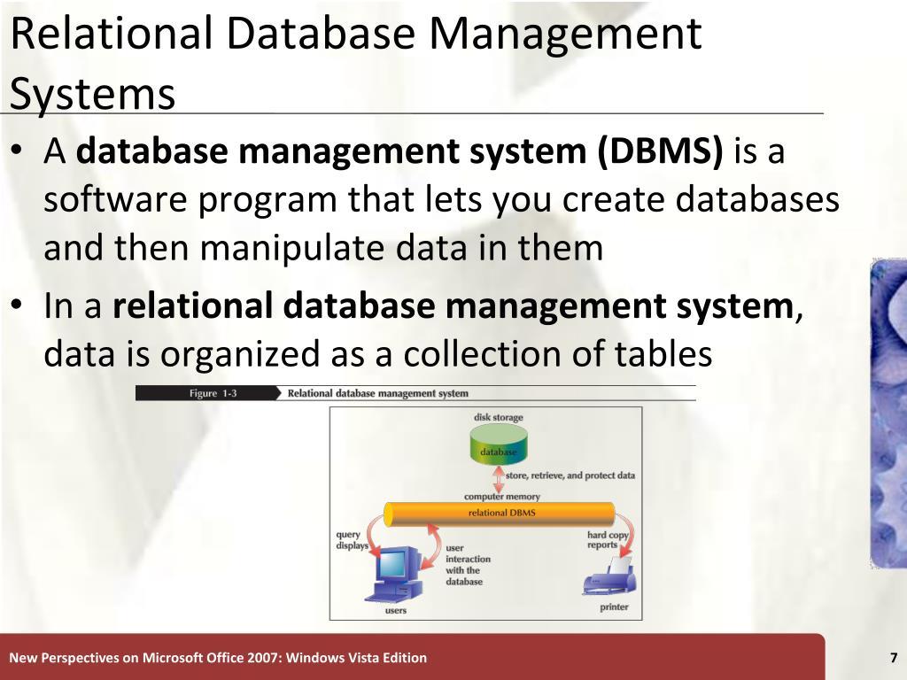 Relational Database Management Systems