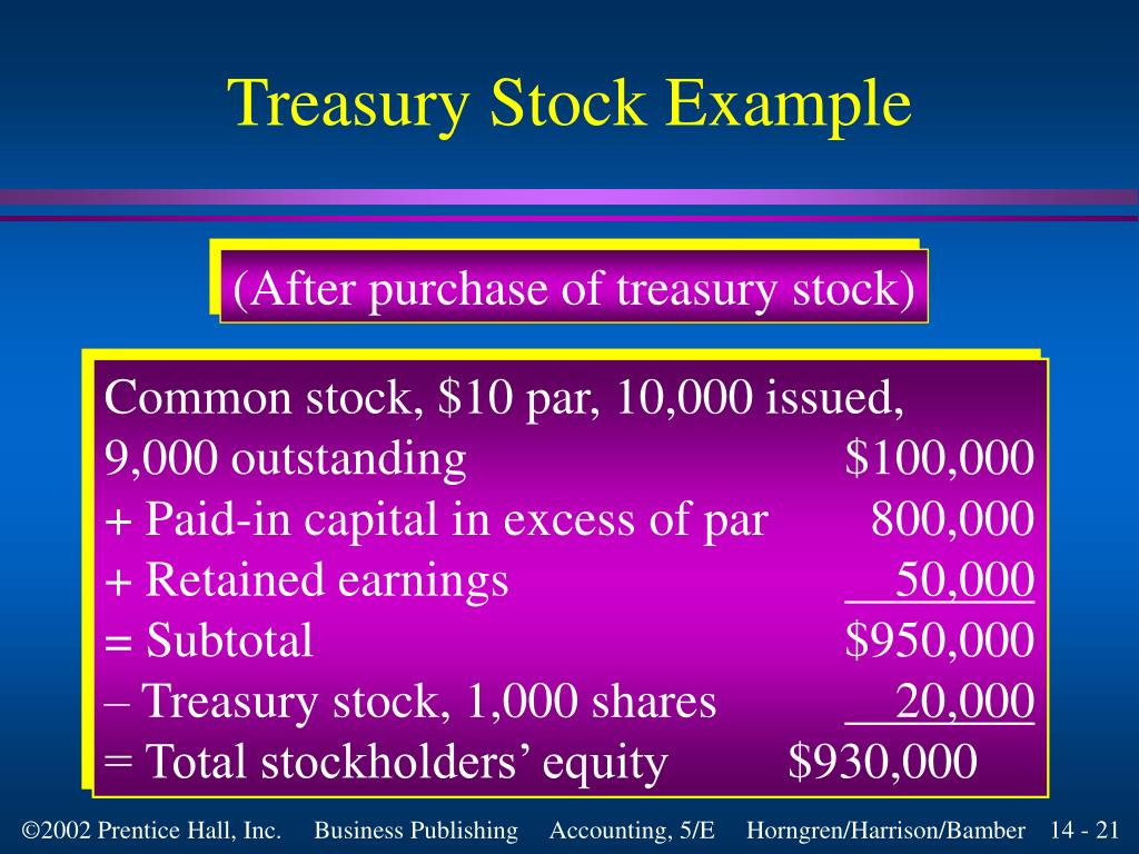 PPT - Retained Earnings, Treasury Stock, and the Income