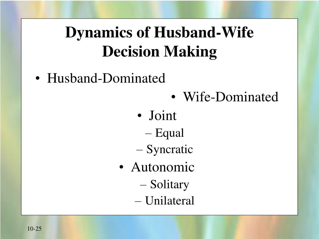 Dynamics of Husband-Wife
