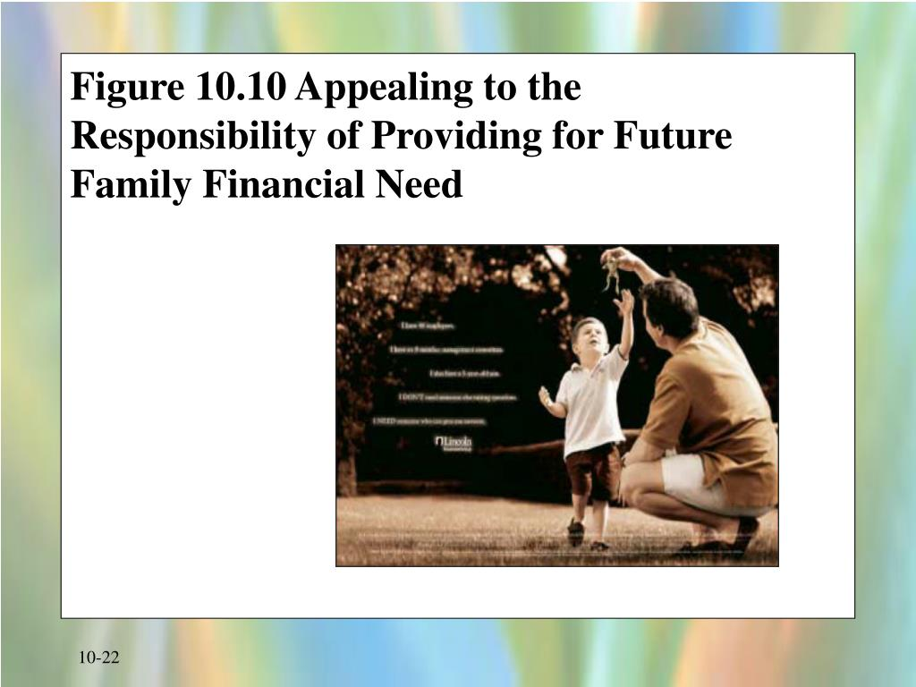 Figure 10.10 Appealing to the Responsibility of Providing for Future Family Financial Need
