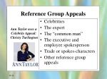 reference group appeals