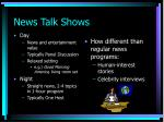 news talk shows