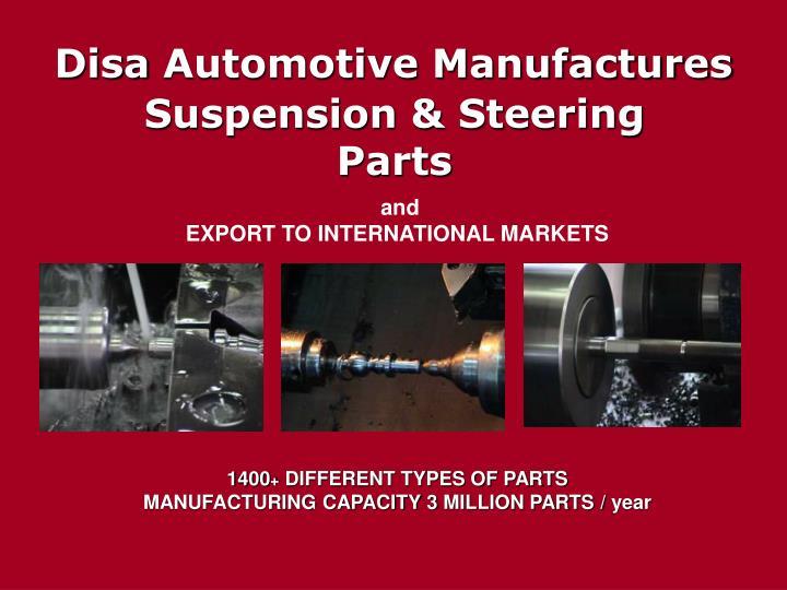 Disa automotive manufactures