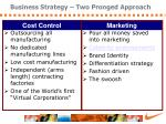 business strategy two pronged approach