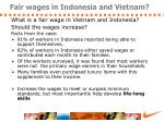 fair wages in indonesia and vietnam