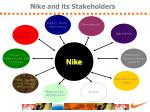 nike and its stakeholders