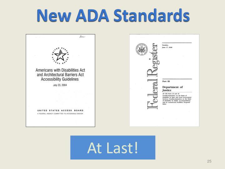 New ADA Standards