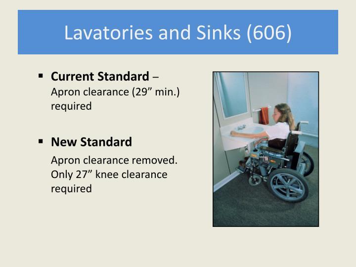 Lavatories and Sinks (606)