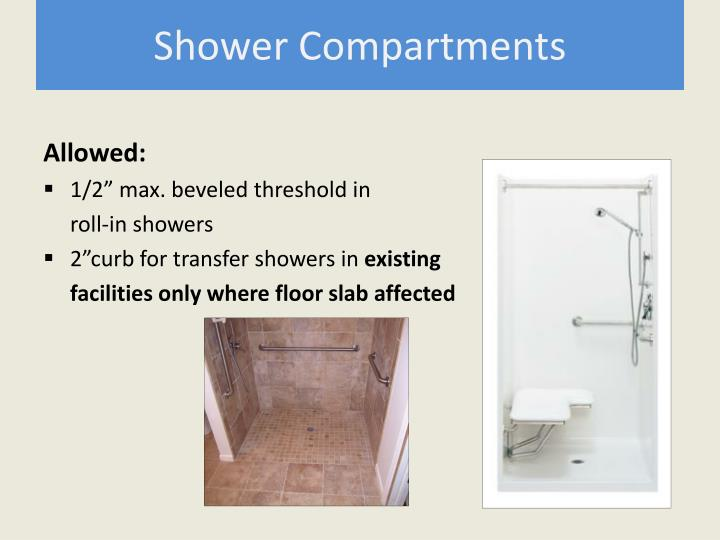 Shower Compartments