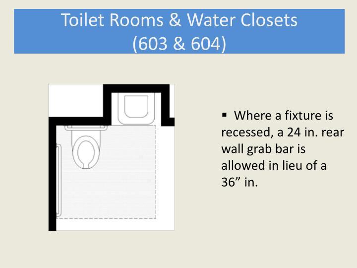 Toilet Rooms & Water