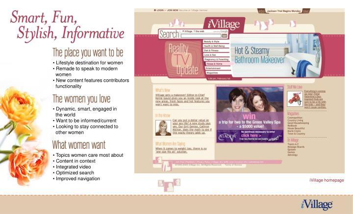 Lifestyle destination for women