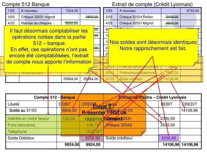 Ppt Etat De Rapprochement Powerpoint Presentation Id 496144