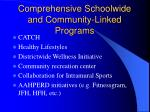 comprehensive schoolwide and community linked programs