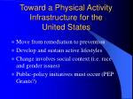 toward a physical activity infrastructure for the united states