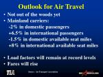 outlook for air travel