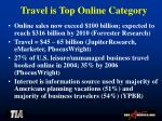travel is top online category