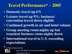 travel performance 2005