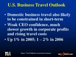u s business travel outlook